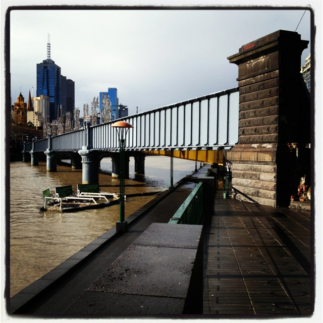 Yarra river from south gate Melbourne