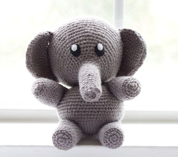 Crochet Elephant/ Choose Your Colors/ Custom by TheFadedWildflower