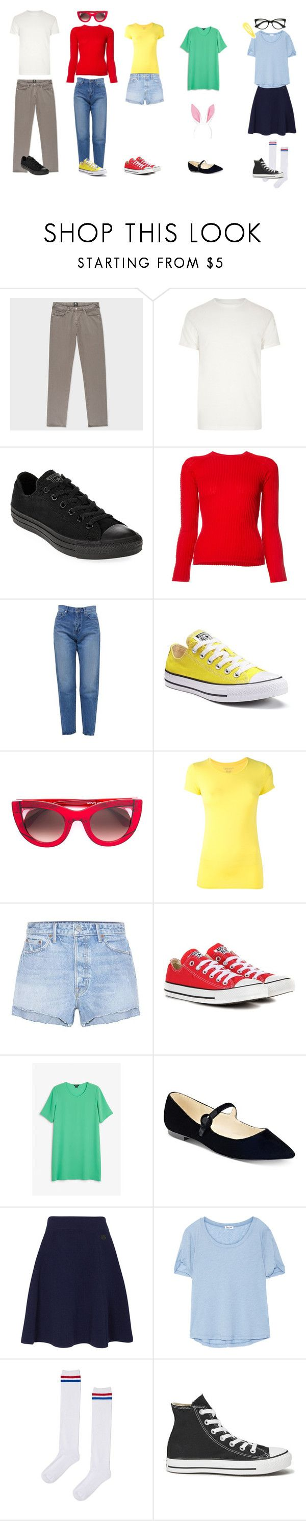 """Bobs Burgers"" by sunshinelarry ❤ liked on Polyvore featuring River Island, Converse, Alexander Wang, Yves Saint Laurent, Thierry Lasry, Majestic Filatures, GRLFRND, Monki, Marc Fisher and Kenzo"