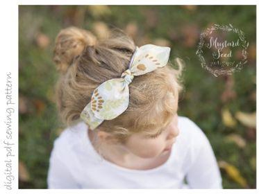 Headband - Sizes 0-3mo to 3+yrs | Craftsy | digital pdf sewing pattern