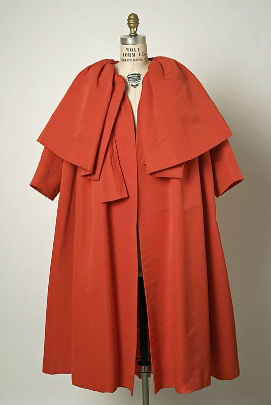 ~Coat, Evening - House of Balenciaga 1954 - Gorgeous~