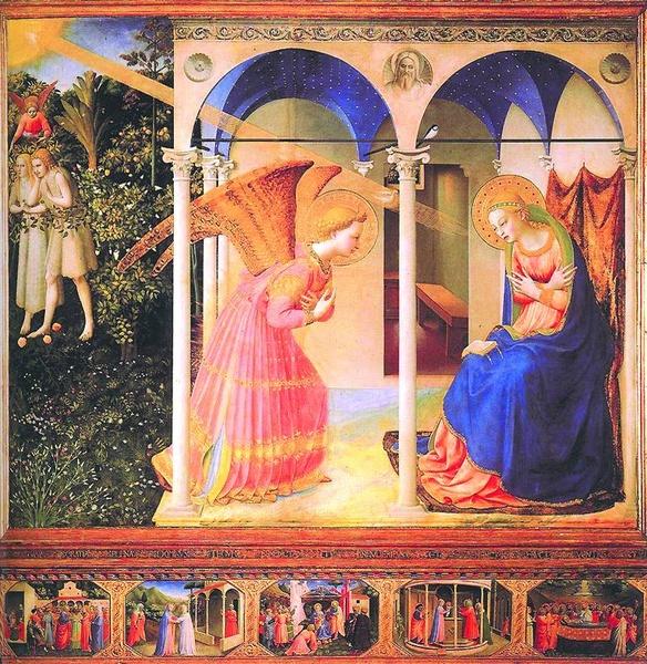 "Guido di Pietro da Mugello zwany Fra 2005.14 // Angelico, ""Zwiastowanie"", tempera na desce, 1435–1445, Muzeum Prado (Madryt)"