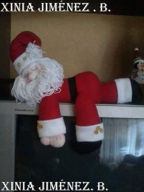 Feltro Fácil: Molde do Papai Noel Deitado