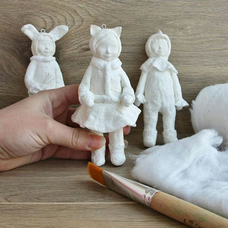 картинки игрушки из ваты своими руками что