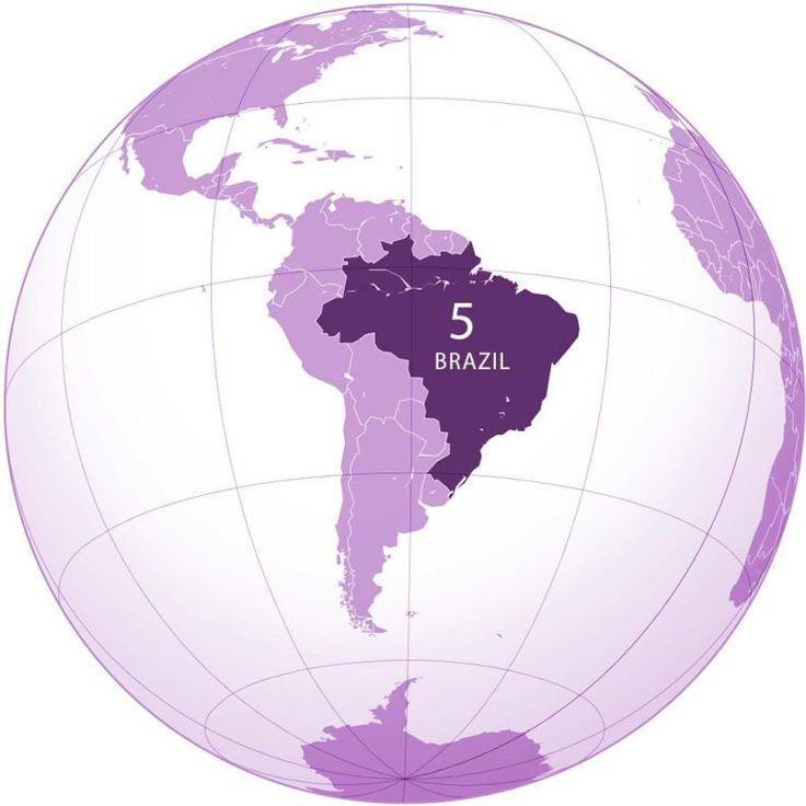 Best Brazil World Map Ideas On Pinterest Map Of The Globe - Brasil map