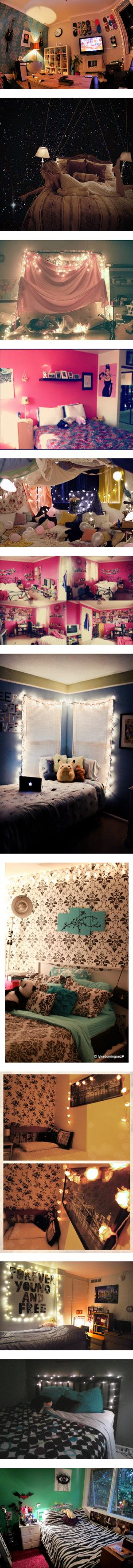 """I love the 5th room :)   """"Bedrooms! :)"""" by ievish on Polyvore  teen hipster tumblr bedroom inspiration"""