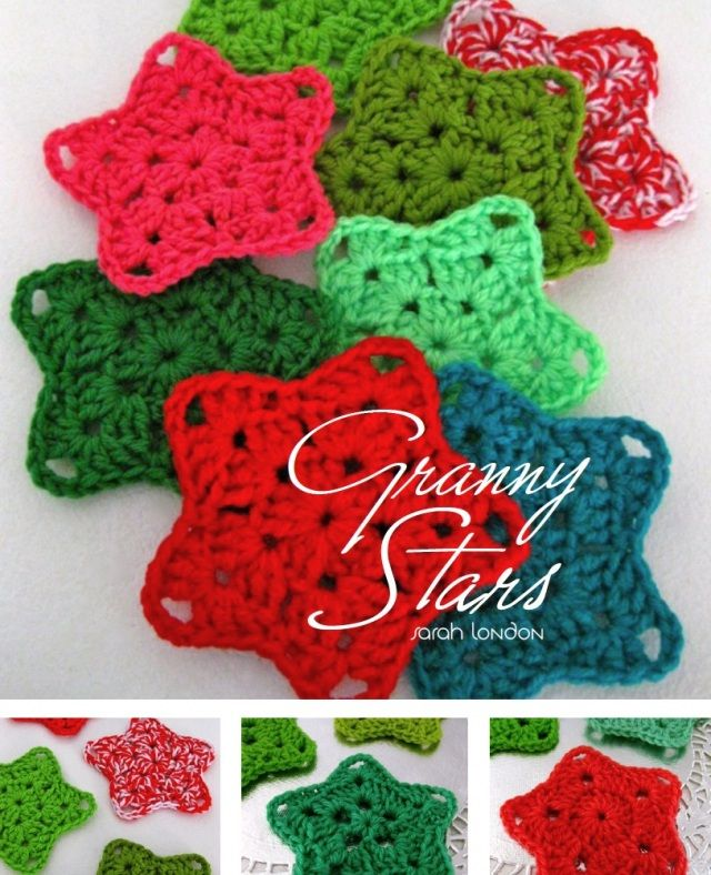 Granny Stars, Christmas, 4th of July, I just love stars, and these look the best out of all the crochet star patterns I've seen!!