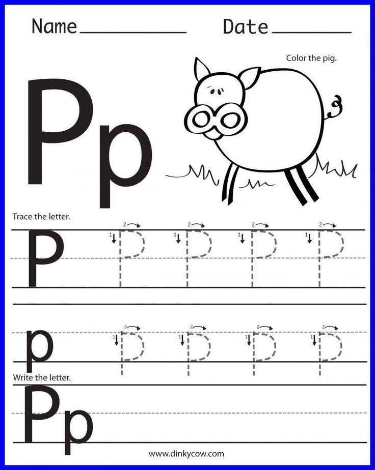 Pre K in 2020 | Letter p worksheets, Alphabet worksheets ...
