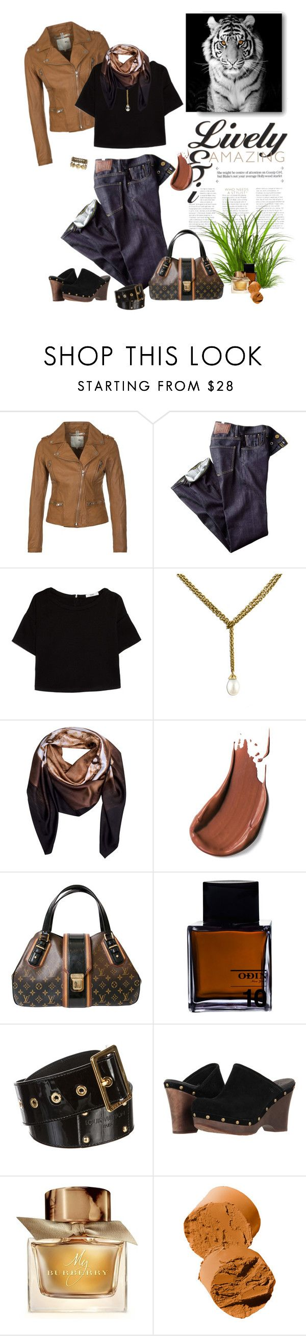 """1058"" by m-lane ❤ liked on Polyvore featuring MKT studio, Citizens of Humanity, MANGO, Trollbeads, Cristina Sabaiduc, Louis Vuitton, Odin, UGG Australia, Burberry and Bobbi Brown Cosmetics"
