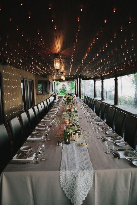 Long table set up on the Villa Botanca verandah