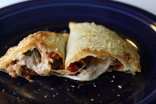 The classic Italian eggplant Parmesan dish smashed together in empanada form.