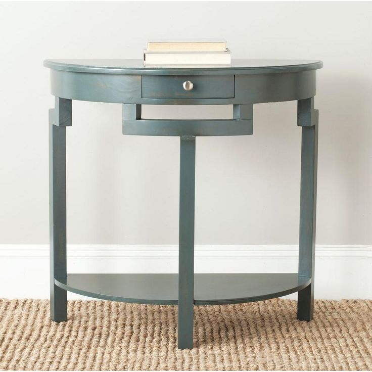 Liana Steel Teal Storage Console Table