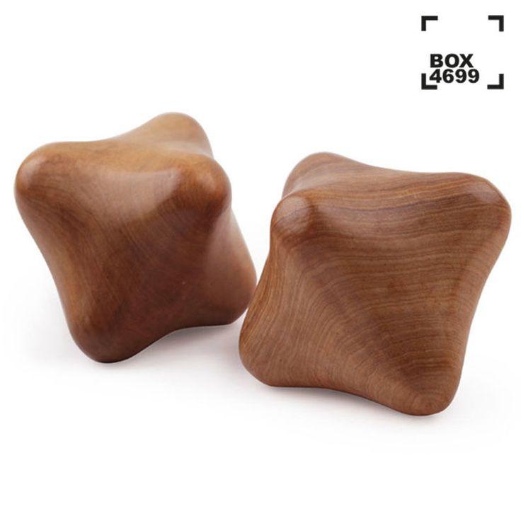 Thai Massage Wood Reflexology Palm Star Cube Full Body Spa Therapy Stick Roller  | eBay