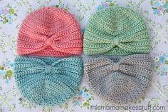 free crochet pattern baby hat size 0-3 months