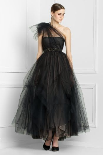 LOVE this black tulle dress from BCBG
