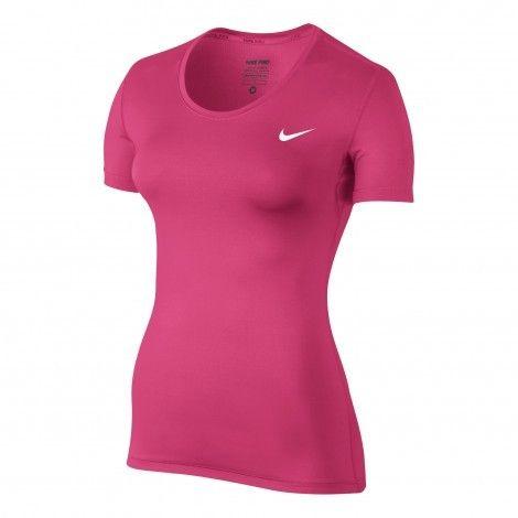 #Nike Pro #fitness shirt dames vivid pink