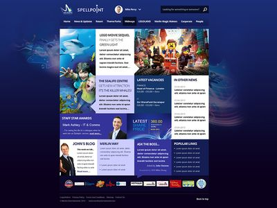 Merlin Entertainments SharePoint Intranet 2