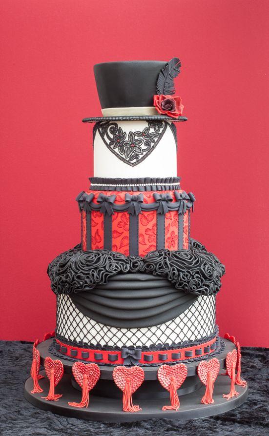 Burlesque Cake with Feather | ... Boudoir Wedding Cake receives Gold Award! | Ice the Cake ~ The Blog