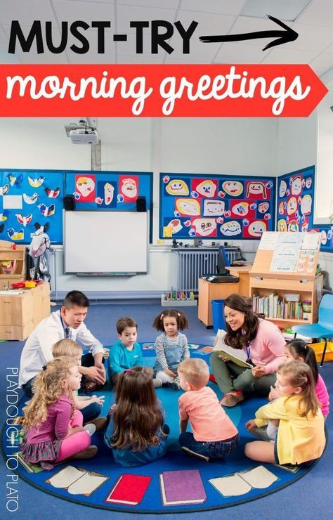 Must-try morning greetings for preschool and kindergarten. So many fun circle time ideas!