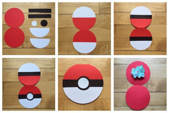 pokemon pokebola papel paper toy férias