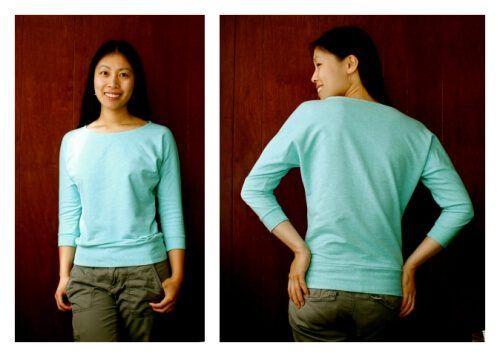 Kostenloses Schnittmuster Dolman-Shirt zum Ausdrucken ❤ T-Shirt ❤ 3/4 Arm ❤ klassischer Schnitt ❤ Rundhals ❤ mit Tutorial ❤ Gr. XS-XL ❤ ✂ Nähtalente.de ✂