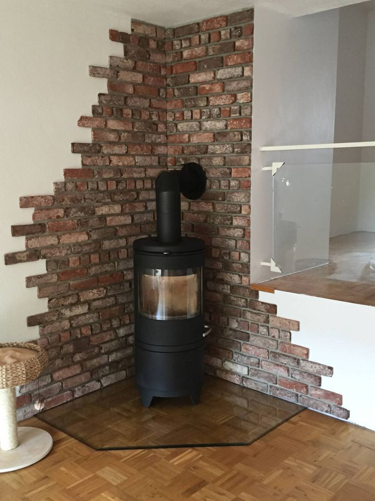 #Backsteinverblender, #Kinselerriemchen, real stone facing, #Industrialstyle, # oven back wall