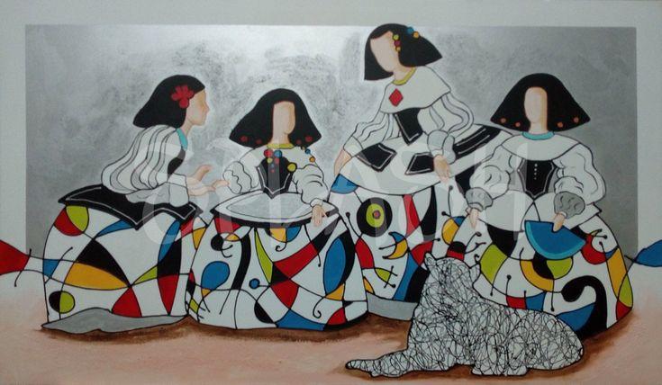Meninas inspiradas en Velázquez con colores brillantes SP952