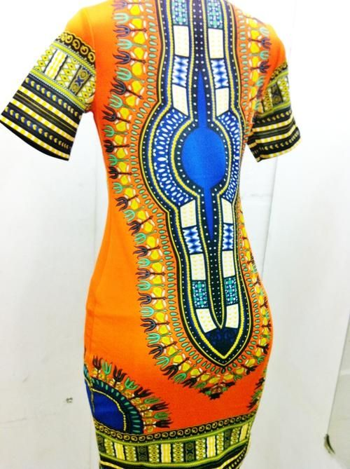 African print dress (from R1)