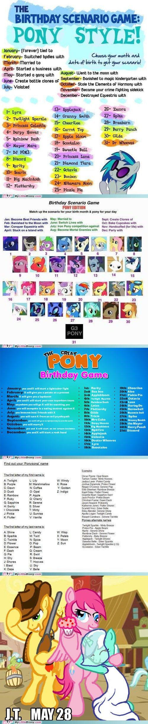 58 best Mlp images on Pinterest   Birthday scenario game, Funny ...