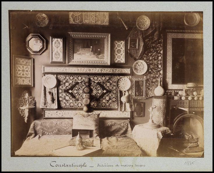 """""""Constantinople: Interieux de maison turque,"""" Guillaume  Berggren, 1875"""