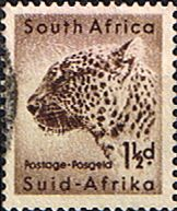 South Africa 1954 Wild Animals SG 153 Leopard Fine Used SG 153 Scott 202 Other South African Stamps HERE