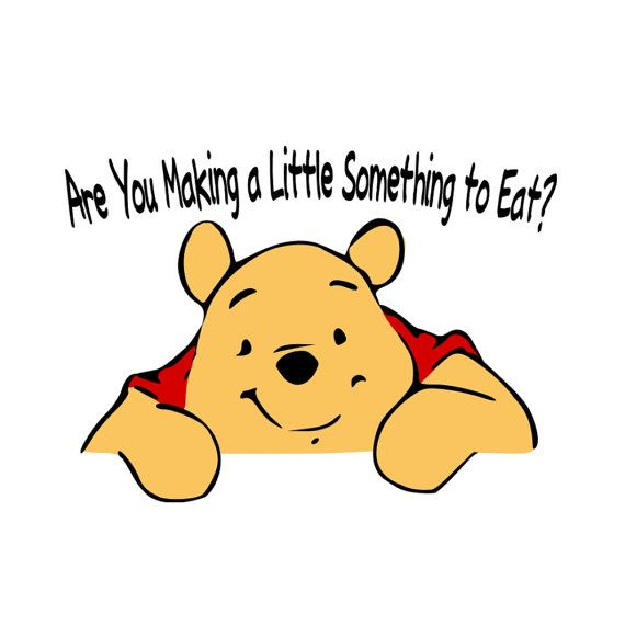 SVG - Pooh Are you making a Little Something to Eat - Kitchen Aid Decal Design - Winnie the Pooh - Kitchen decor - Home Decor - Stand Mixer