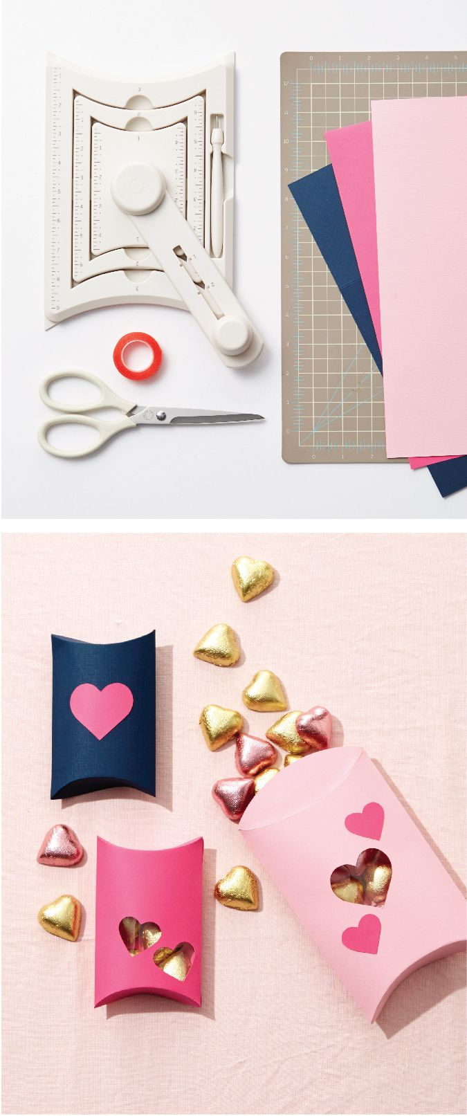 Treat your valentine with something sweet using the pillow gift box tool from Martha Stewart Crafts