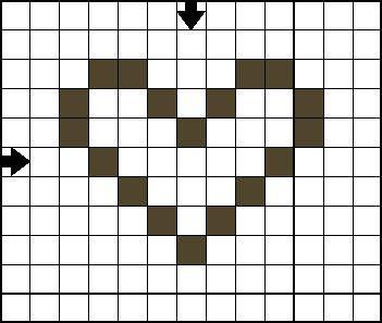 Free Cross Stitch Pattern - Mini Heart C - Open Heart Cross Stitch Pattern
