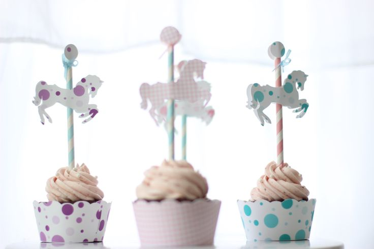 Merry-Go-Round Horse Cupcake Topper/Pick- SET OF 12 by ooohlalapaperie on Etsy https://www.etsy.com/listing/119345880/merry-go-round-horse-cupcake-topperpick