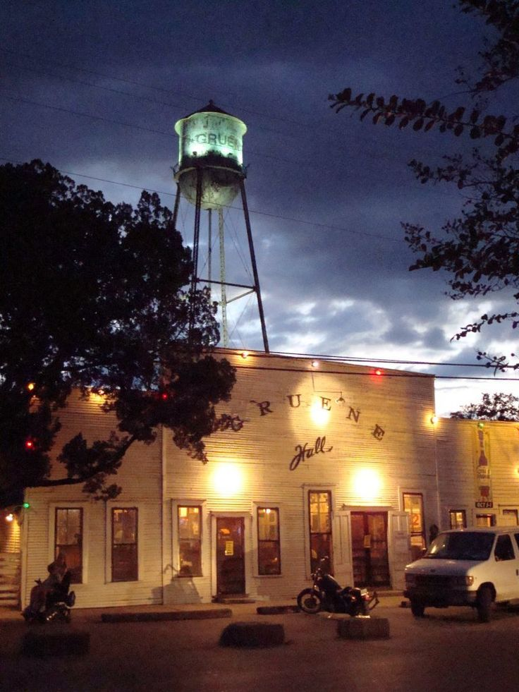 Gruene Hall, the oldest Honky Tonk in Texas!  Very cool place to hang out, listen to music and have a cold one.