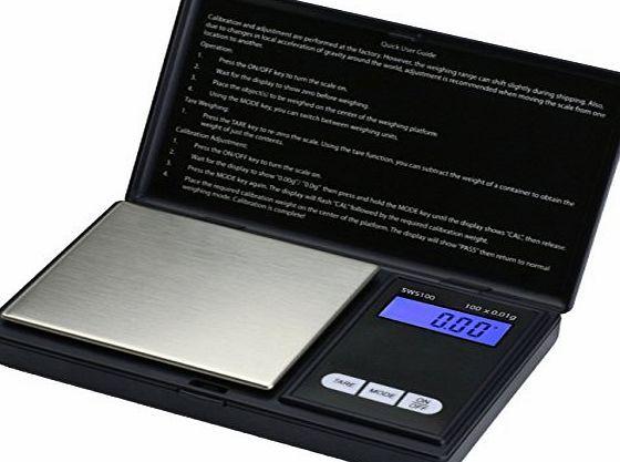 Smart Weigh SWS100 Elite Digital Pocket Scale 100 x 0.01g - Black No description (Barcode EAN = 0700358199110). http://www.comparestoreprices.co.uk/december-2016-week-1-b/smart-weigh-sws100-elite-digital-pocket-scale-100-x-0-01g--black.asp