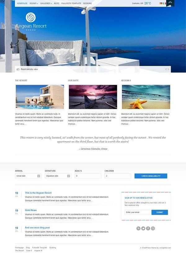 Aegean Resort - Prezzo: $39 (accesso illimitato a tutti gli altri temi)