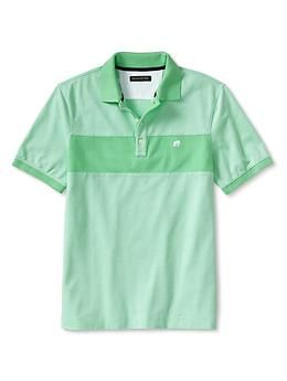 Signature Chest-Stripe Pique Polo