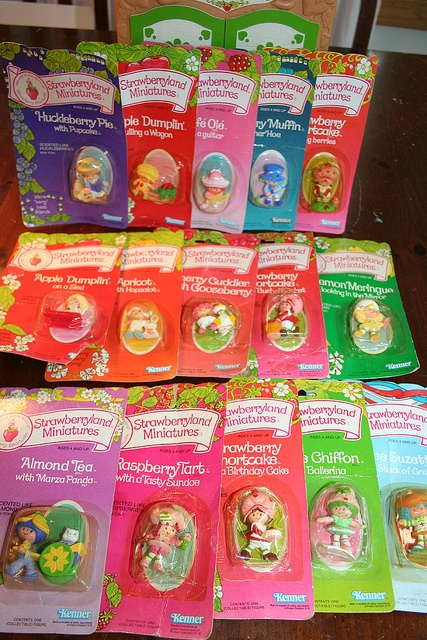 Vintage Strawberry Shortcake minis....I still have mine and many still smell!