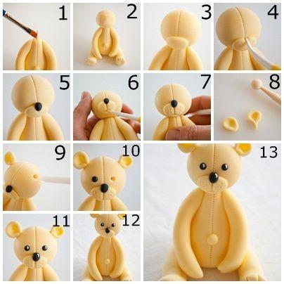 Comment faire un ours en pâte à sucre