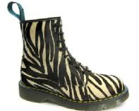 Solovair - Zebra Leather Boot (8 Eyelet) SKU: SLB31 Available in the following sizes: 3 - 8