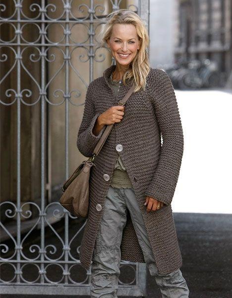 Вязать себя: Красивая куртка с подвязками - ее мир