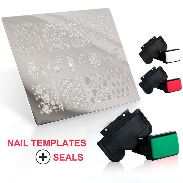 Lot De Plaque Stamping Pochoir Tampon Nail Art Pour Vernis à Ongles Décoration | Health & Beauty, Nail Care, Manicure & Pedicure, Nail Polish | eBay!