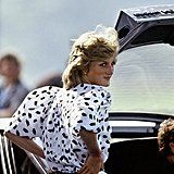 The Princess of Wales looked relaxed at a polo match in England in June 1983.