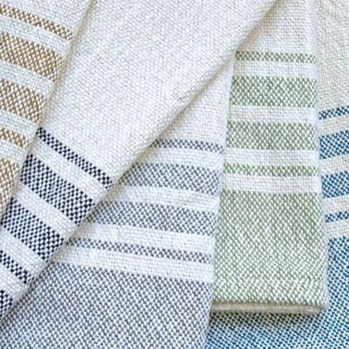 Loomination's tea towels are made from super-absorbent 100% unmercerized cotton, woven for use and stand up to wear. Use to line a basket of rolls, as a hand towel in a guest bath, or give as a memorable hostess or housewarming gift.