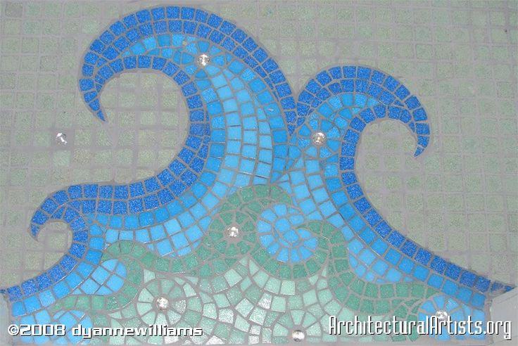 Waves Mosaic Floor, small wave
