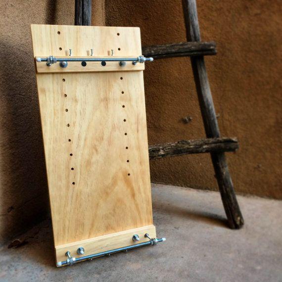 Handmade Solid Wood Professional Beading Loom Adjustable Free Accessories Beadloom Bead Loom Pine Finished Crafts Large Varnished Made USA