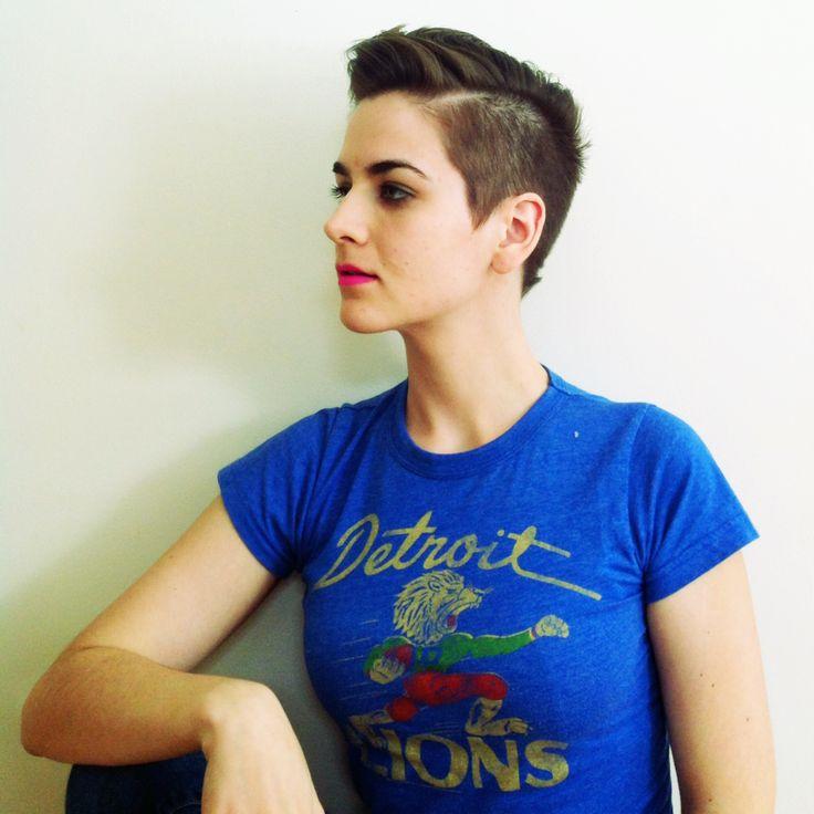 Short Haircut For Women Buzzed Sides Hair Pinterest