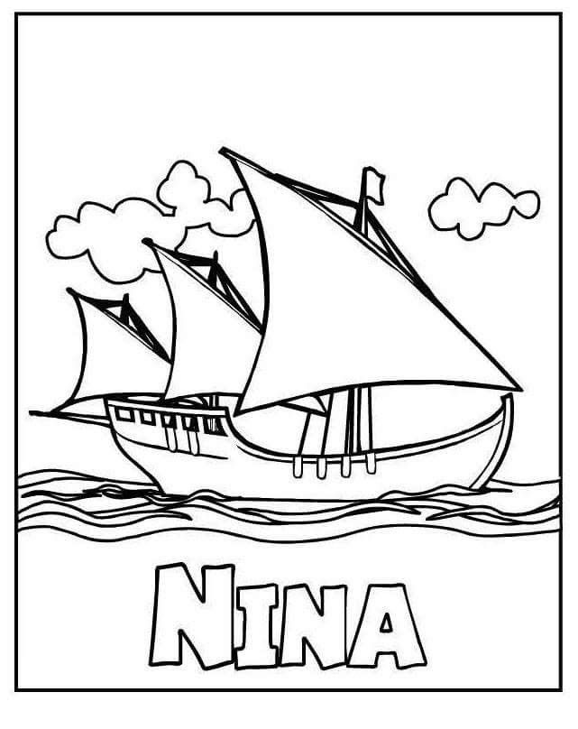 Pin By Joselyn Quispe On Inicial Hojas De Trabajo Columbus Day Coloring Pages Coloring Pages For Kids